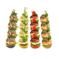1504. Assortment of mini burgers