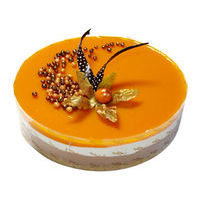 25. Mango with almond praline