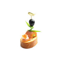 2521. Canape with smoked salmon
