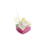 2790. Matjes herring with beetroot-cheese cream and quail egg