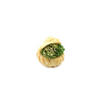 3316. Profiteroles with spinach cream and sesame seeds