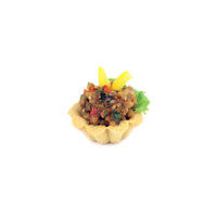 3524. Cheese tartlet with grilled vegetable Tartare