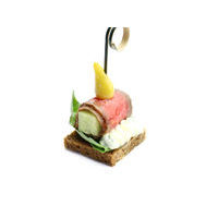 4601. Roast beef with cucumber and cheese cream on a rye bread