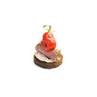 4602. Canape with Roast beef and sundried tomato cream