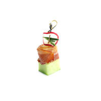 4668. Bacon keg with potatoes, plum sauce and cucumber