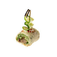 4759. Lavash roll with Pecking duck, vegetables and plum sauce