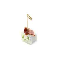 4769. Rice roll with smoked duck breast, Feta cheese and rocket salad
