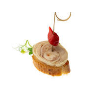 4821. Chicken roulade with nuts canape
