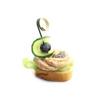 4831. Canape with chicken roulade and prunes