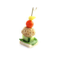 4862. Canape with chicken ball and vegetables