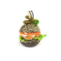 4903. Black mini chicken burger
