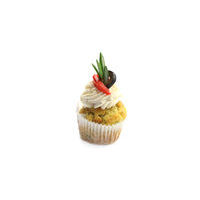 4975. Salty mini cupcake with smoked chicken mousse