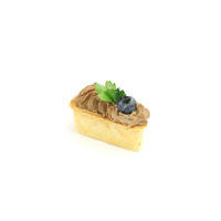 4984. Cheese tartlet with chicken liver pate