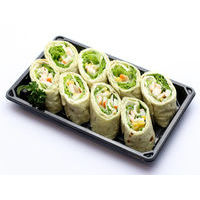 522. Lavash with crab sticks and vegetables
