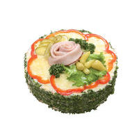 6010. Ham cake with cheese layers