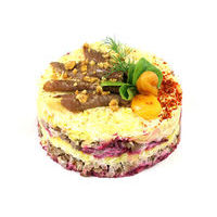 6013. Layered beef salad