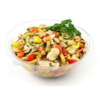 6025. Bean salad with smoked chicken
