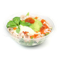 6041. Shrimp and avocado salad with red caviar