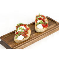 Bruschetta with beef carpaccio,