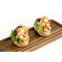 Bruschetta with chicken breast,