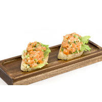 Bruschetta with salmon-avocado tartar,