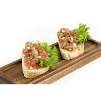Bruschetta with tuna-avocado tartar