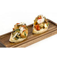 Bruschetta with vegetable ratatouille,