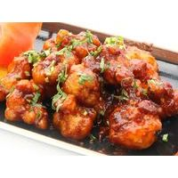 Crispy cauliflower with tomato-tamarind sauce