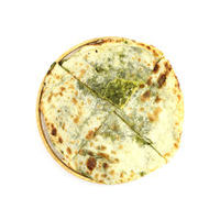Naan bread with cheese and spinach