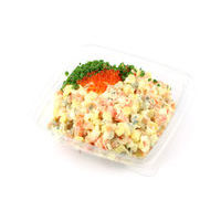 Russian salad with lightly salted salmon and red caviar (0.5 kg)