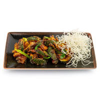 Spicy crispy zucchini in plum sauce with chili